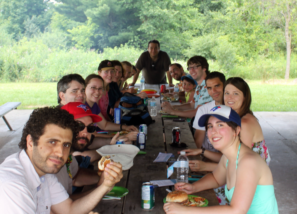 Our annual lab BBQ at Guelph Lake, 2013 [1 photo]